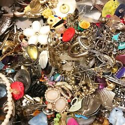 Junk Craft Jewelry Lot DIY Vintage to Modern Harvest Small Flat Rate 1.5 2lbs $9.99