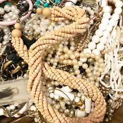 Junk Craft Jewelry Lot DIY Vintage to Modern Harvest Padded Flat Rate 5 6lbs $14.99