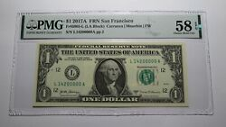 $1 2017 Fancy Near Solid Serial Number Federal Reserve Currency Bank Note Bill $79.99