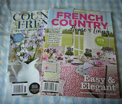 Home amp; garden magazines lot of 2 French Country Home amp; Living Country French $8.95