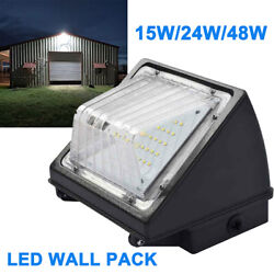 LED Wall Pack Light 15W 24W 48W Outdoor Commercial Light Fixture Garage Yard