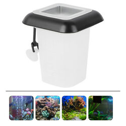 1 pc Red Worms Feeder Funnel Floating Cone Plastic Fish Feeder for Fish Tank $7.74