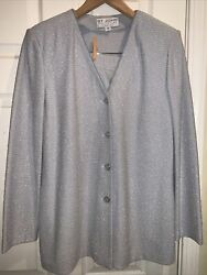 St. John womens skirt suits Vintage 2 Suits Gray And Light Blue. Size 10 $250.00