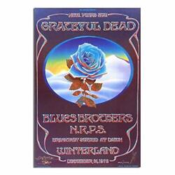 Grateful Dead Closing of Winterland Wall Paintings for Room Decor Poster Prin... $24.90