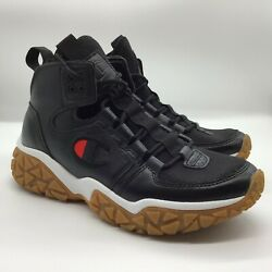 Champion High Top Athletic Black Sneaker Boy Youth Shoes Size 6.5Y $45.00