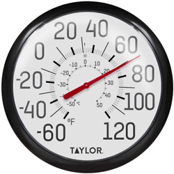Indoor Extra Large Outdoor Thermometer 13.25Llll Dial Patio Weather Resistant $14.07