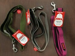 Dog leashes Kong comfort padded handle traffic 4 ft. New leash bolt style clip $21.99