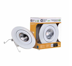 Commercial Electric 5 In. White LED Recessed Gimbal Trim