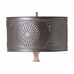 Table Lamp Drum Shade with Chisel in Kettle Black $50.95