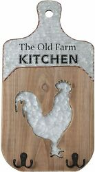 Kitchen rustic farmhouse wood sign primitive home decor country Rooster $24.95