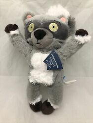 Bark Box Nocturnal Nate Raccoon Plush Crinkle Disc Squeaker Dog Toy New Rare $18.23