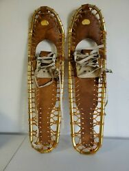 Sherpa Snow Claws Gold Tone Aluminum Light Weight Pair Snow Shoes 39quot; x 10quot; $89.95