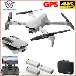 5G WiFi Fpv F10 HD 4k Professional GPS Drone Helicopter With Camera Hd 4k Remote $211.27