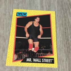 MR. WALL STREET #84 TRADING CARD WCW Wrestling Vintage 1991 Impel NM $1.88