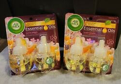 4 Oil Wick Scented Refills Summer Delights Essential Oils Up to 120 days $13.99