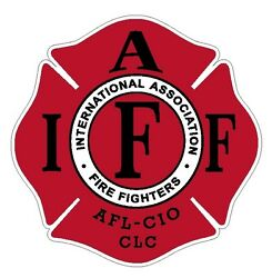 4quot; IAFF Decal Red with Black Trim Exterior Mount Please Read Auction