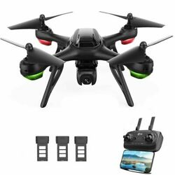 Holy Stone HS130D GPS Drone with 2K FHD Camera Video RC Quadcopter 3 Batteries $96.00