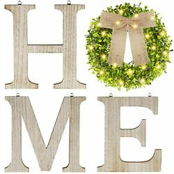 SAND MINE Wooden Home Signs Farmhouse Home Decor Wall Rustic Home Letters New $47.89