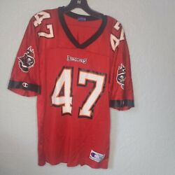 Tampa Bay Buccaneers Red John Lynch Football Jersey Champion 36 small $29.99