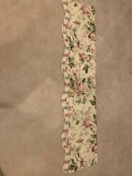 Waverly Forever Yours Valance  Floral Peonies rose and green Stripes $15.99