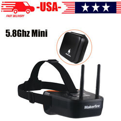 5.8Ghz Mini FPV Goggles 3 inch 40CH Video Headset Glasses for FPV Racing Drone $44.63