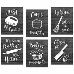 Retro Kitchen Canvas Wall Art Decor Prints Posters Kitchenware with Sayings... $24.39