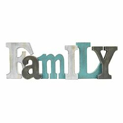 Rustic Family Sign Wall Decor Wood Family Cut out Letter Sign Freestanding Ta... $32.43