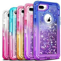 Shockproof Case For iPhone 12 11 Pro Max Xr X 6 6s 8 7 Plus Liquid Glitter Cover $9.49