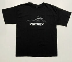 Victory Motorcycles Westminster Ca. Black Graphic T Shirt Mens XL Shirt Tee $11.95