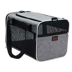 Soft Sided Pet Carriers Airline Approved Carrier for Medium Pack of 1 Grey $30.36