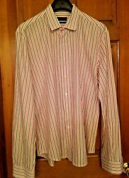 Burberry Mens Dress Shirt Neck 17 English Classic Made in Italy $7.00