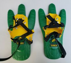 KIDS T REX TRACKER SNOWSHOES Makes Dinosaur Tracks EXCELLENT CONDITION GIFT $24.99