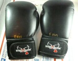 Pair Century 14 oz Size Adult M 23 Boxing Gloves Black Kick Boxing Sparring MMA $19.85