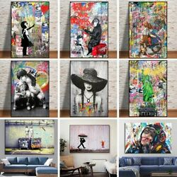 Graffiti Abstract Wall Art Canvas Painting Animals Figures Street Posters Prints $4.99