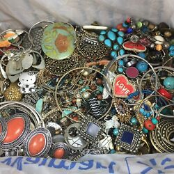 Vintage And Modern Jewelry Wear Repair Craft Lot 10 Pound Box $38.00