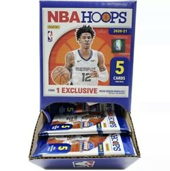 ONE 2020 2021 NBA Hoops Basketball 5 card Pack NEW SEALED DOLLAR TREE YELLOW $2.99