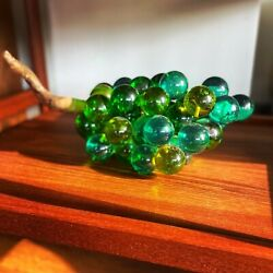 """Vintage Blue Green Lucite Acrylic Grapes Cluster Driftwood Stem Large 16"""" 1960's $65.00"""