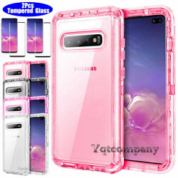 For Samsung Galaxy S10 S10 Plus S10e Clear Crystal Cover Case Screen Protector $7.94