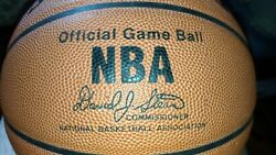 NBA Spalding Official Game Ball basketball signed by Grant Hill David Stern Era C $380.00