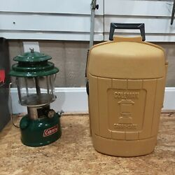 Coleman 220K Double Mantle Vintage Lantern with Clam Shell Case Gold GREAT COND. $69.99