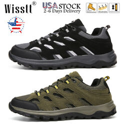 Men#x27;s Trekking Trail Shoes Outdoor Hiking Boots Camping Workout Sports Sneakers $29.99