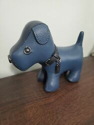 Coach Dog Leather Paperweight Blue and Black $100.00