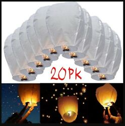 Paper Chinese Lanterns For Weddings New Year Festivals Memorials 20Pack IVORY $30.00