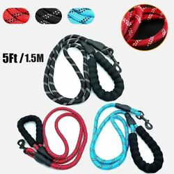 5#x27; Nylon Pet Leash Outdoor Training Reflective Dog Leashes For Small Large Dogs $7.50