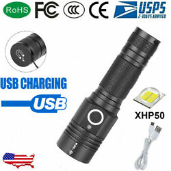 Most powerful 90000LM LED Flashlight On or off click Telescopic focusing PT $21.65