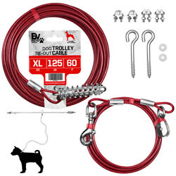 BV Pet 60 Ft Trolley for Dog up to 125 Pound with 10 Ft Runner Tie Out Cable ® $12.00