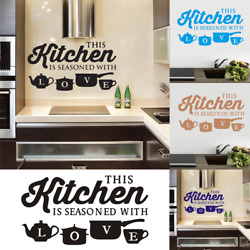 Wall Sticker PVC Kitchen Home Art Wall Decal Bedroom Room Decoration Accessories $7.99