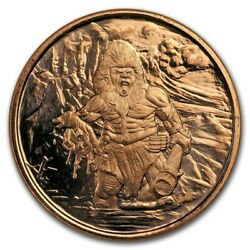1 oz Copper Round Frost Giant $2.70