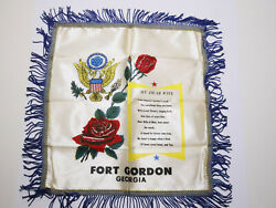 US Army Fort Gordon Georgia quot;My Dear Wifequot; Satin Wall Hanging $19.99
