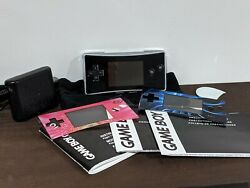 Nintendo Gameboy Micro With Charger Manual Pouch and OEM Face Plates C $325.00